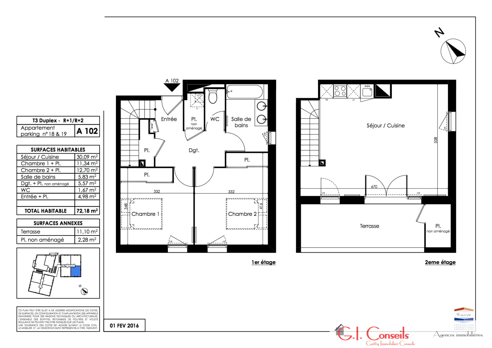 Vente appartement t3 en neuf for Appartement t3 neuf
